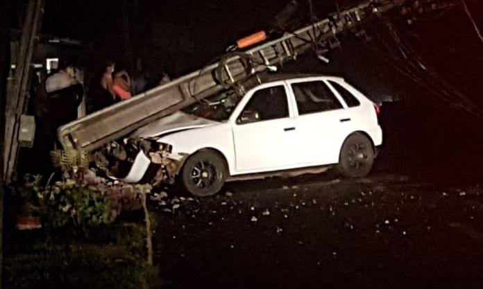 Acidente de trânsito em Seara ocasionou queda de energia elétrica nesta quarta-feira,  30