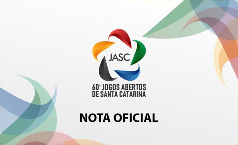 Jogos Abertos de Santa Catarina estão cancelados