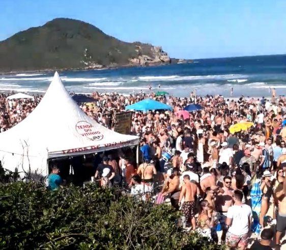 (VÍDEO) Praia do Rosa dando adeus ao Covid-19