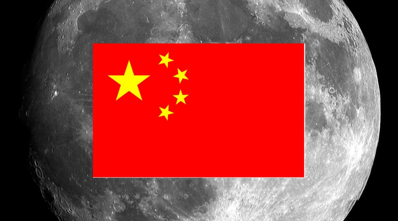 Bandeira da China é cravada na Lua