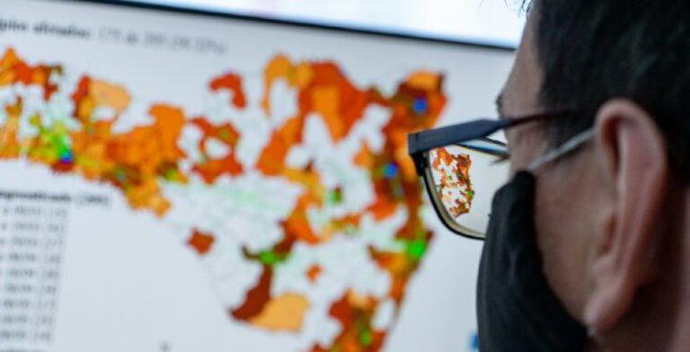 Estado de SC divulga nova Matriz de Risco Potencial da Covid-19; confira o mapa