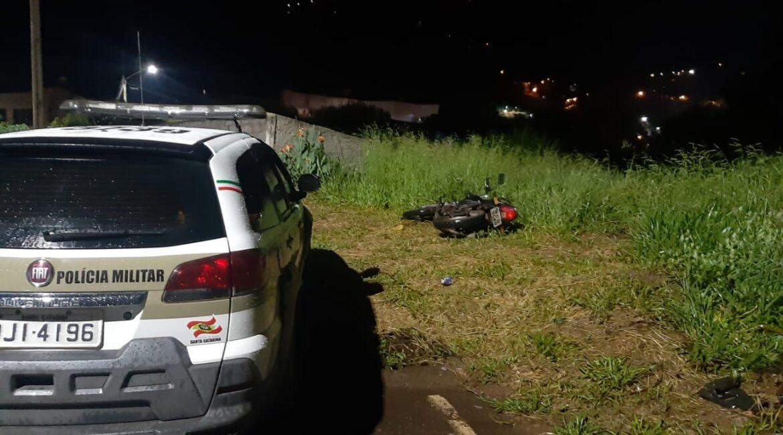 Polícia Militar recupera motocicleta antes do registro de furto em Seara