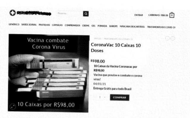 Procon SC alerta sobre anúncio falso de venda de Coronavac