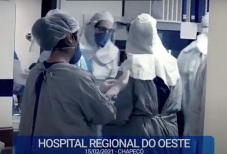 (VÍDEO) Com cenas reais de atendimento no HRO, prefeitura de Chapecó faz um apelo para população