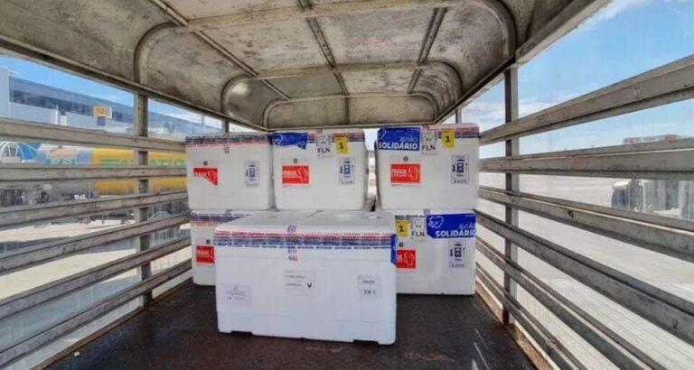 Santa Catarina recebe nesta semana mais de 157 mil doses de vacinas contra Covid-19