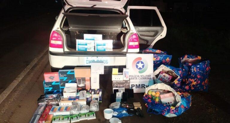 Veículo de Xavantina é flagrado com mercadorias ilegais do Paraguai