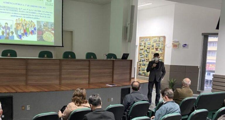 Prestação de contas do município de Seara são apresentadas em Audiência Pública