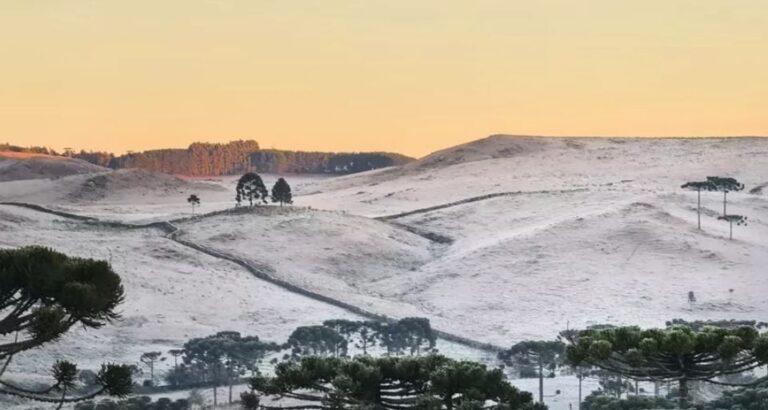 Pelo segundo dia consecutivo, SC amanhece com temperaturas abaixo de -8°C